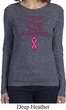 Support Breast Cancer Awareness Ladies Long Sleeve