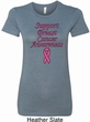 Support Breast Cancer Awareness Ladies Longer Length Shirt