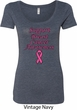 Support Breast Cancer Awareness Ladies Scoop Neck