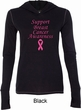 Support Breast Cancer Awareness Ladies Tri Blend Hoodie