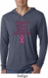 Support Breast Cancer Awareness Lightweight Hoodie Tee