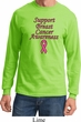 Support Breast Cancer Awareness Long Sleeve