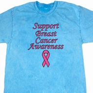 Support Breast Cancer Awareness Mineral Tie Dye T-shirt