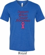 Support Breast Cancer Awareness Tri Blend V-neck