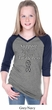 Support Carcinoid Cancer Awareness Girls V-neck Raglan