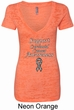 Support Carcinoid Cancer Awareness Ladies Burnout V-neck