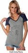 Support Carcinoid Cancer Awareness Ladies Contrast V-neck