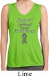 Support Carcinoid Cancer Awareness Ladies Dry Wicking Sleeveless Shirt