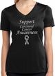 Support Carcinoid Cancer Awareness Ladies Dry Wicking V-neck