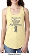 Support Carcinoid Cancer Awareness Ladies Ideal Racerback