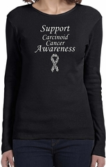 Support Carcinoid Cancer Awareness Ladies Long Sleeve