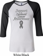 Support Carcinoid Cancer Awareness Ladies Raglan Shirt