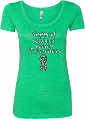 Support Carcinoid Cancer Awareness Ladies Scoop Neck