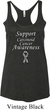 Support Carcinoid Cancer Awareness Ladies Tri Blend Racerback