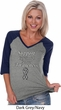 Support Carcinoid Cancer Awareness Ladies V-neck Raglan
