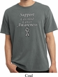 Support Carcinoid Cancer Awareness Pigment Dyed Shirt