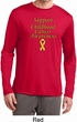 Support Childhood Cancer Awareness Dry Wicking Long Sleeve