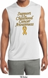 Support Childhood Cancer Awareness Dry Wicking Sleeveless Shirt