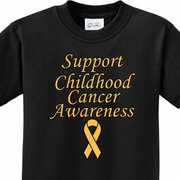 Support Childhood Cancer Awareness Kids Shirts
