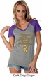 Support Childhood Cancer Awareness Ladies Contrast V-neck