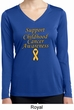 Support Childhood Cancer Awareness Ladies Dry Wicking Long Sleeve