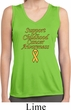Support Childhood Cancer Awareness Ladies Dry Wicking Sleeveless Shirt