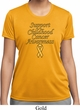 Support Childhood Cancer Awareness Ladies Dry Wicking T-shirt