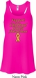 Support Childhood Cancer Awareness Ladies Flowy Racerback