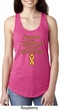 Support Childhood Cancer Awareness Ladies Ideal Racerback