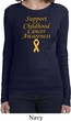 Support Childhood Cancer Awareness Ladies Long Sleeve