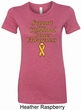 Support Childhood Cancer Awareness Ladies Longer Length Shirt