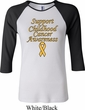 Support Childhood Cancer Awareness Ladies Raglan Shirt