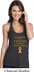 Support Childhood Cancer Awareness Ladies T-back Tank Top