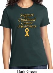 Support Childhood Cancer Awareness Ladies T-shirt