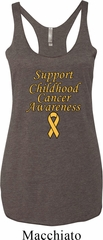 Support Childhood Cancer Awareness Ladies Tri Blend Racerback