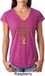 Support Childhood Cancer Awareness Ladies Tri Blend V-neck