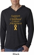 Support Childhood Cancer Awareness Lightweight Hoodie Tee
