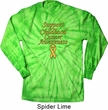 Support Childhood Cancer Awareness Long Sleeve Tie Dye