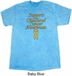 Support Childhood Cancer Awareness Mineral Tie Dye Shirt