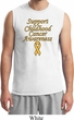 Support Childhood Cancer Awareness Muscle Shirt