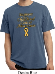 Support Childhood Cancer Awareness Pigment Dyed T-shirt