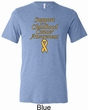 Support Childhood Cancer Awareness Tri Blend Tee