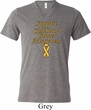 Support Childhood Cancer Awareness Tri Blend V-neck