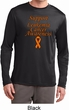 Support Leukemia Cancer Awareness Dry Wicking Long Sleeve