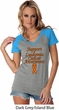 Support Leukemia Cancer Awareness Ladies Contrast V-neck