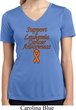 Support Leukemia Cancer Awareness Ladies Dry Wicking V-neck