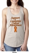 Support Leukemia Cancer Awareness Ladies Ideal Racerback