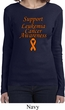 Support Leukemia Cancer Awareness Ladies Long Sleeve
