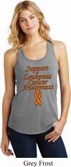 Support Leukemia Cancer Awareness Ladies Racerback
