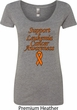 Support Leukemia Cancer Awareness Ladies Scoop Neck